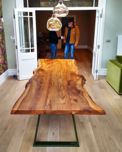 This table was made by Hand Made In Brighton by Payne Vigour out of our Elm planks