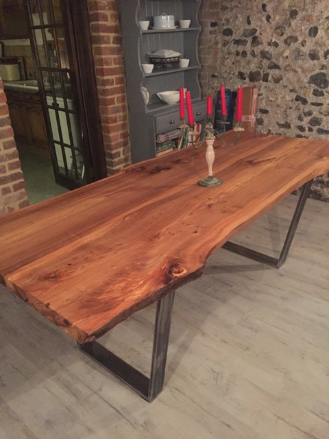 AFTER - This was made by Jerry from Deal in Kent out of 2 of our English Elm planks.