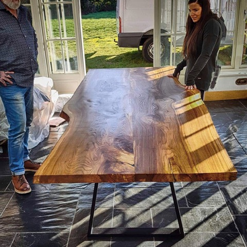 A beautiful English Elm table made by our customers 'Hand Made In Brighton'. Please call Jude for further information 07967541185 or visit handmadeinbrighton.com