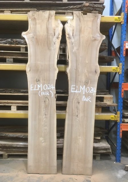 ELM 024 timber plank book matched pair