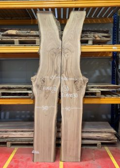 Elm 0030 Book matched pair ready for river table