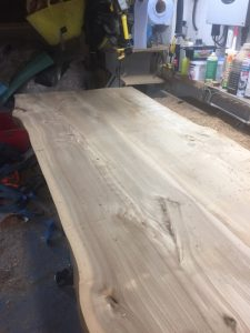 BEFORE - This was made by Jerry from Deal in Kent out of 2 of our English Elm planks.